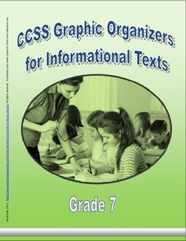 Grade 7 CCSS Graphic Organizers for Informational Texts