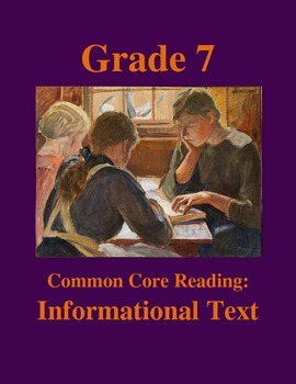 Grade 7 Common Core Reading: Informational Text -- The Sea