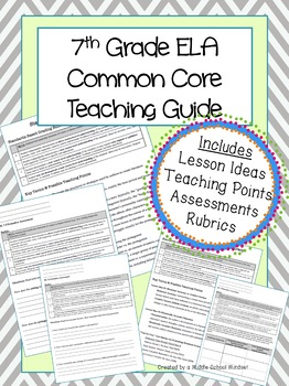 7th Grade ELA Teaching Guide for the Common Core Reading L