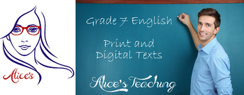 Grade 7 English - English in print and digital texts