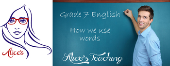 Grade 7 English -  How we use words