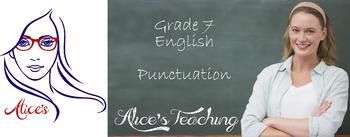 Grade 7 English Unit - Punctuation