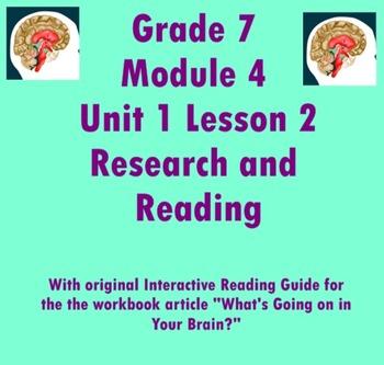 Grade 7 Module 4A U1 L2 smart board notes w/original inter