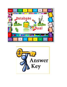 Grade 8, 9 Year 8, 9 ICT Database Dual Interactive Quiz An