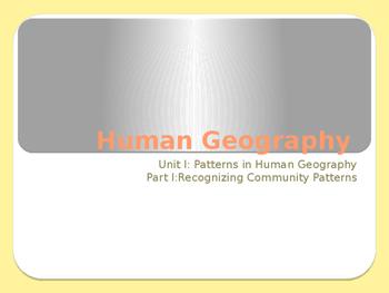 Grade 8: Human Geography Unit 1