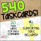 Grade 8 Math STAAR EOC Test-Prep Task Cards- SUPPORTING TE
