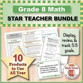 Grade 8 Math STAR TEACHER BUNDLE (Communication, Review, T