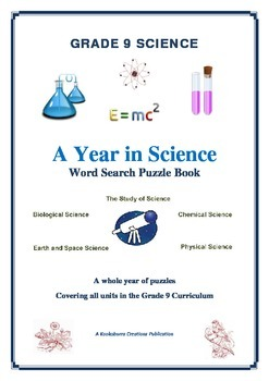 Grade 9 Science FULL YEAR of Wordsearch Puzzles ALL AREAS