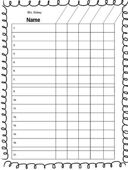 Grade Book Sheet (Can be Edited)