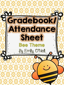 Grade Book and Attendance (Bee Theme)