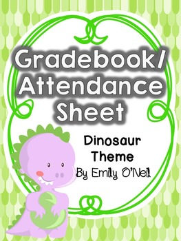 Grade Book and Attendance (Dinosaur Theme)