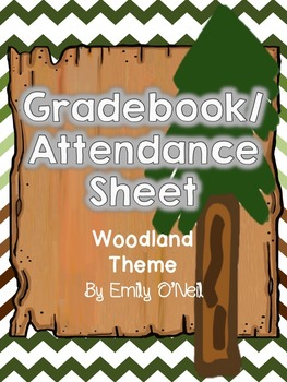 Grade Book and Attendance (Woodland Theme)
