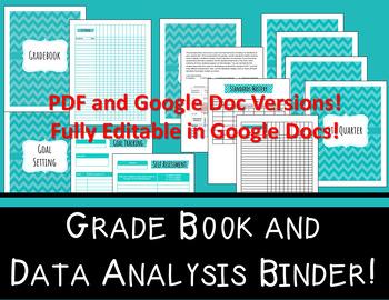Grade Book and Data Analysis Bundle - Pink and Navy