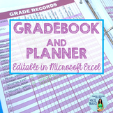 Grade Book and Planner- Editable