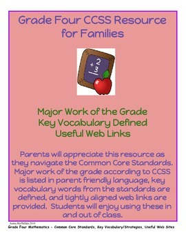 Grade Four CCSS Math Resource for Families