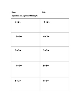 Grade K addition to 10