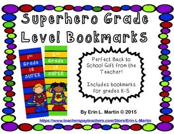 Grade Level Bookmarks