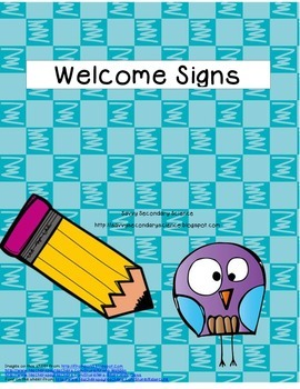 Grade Level Welcome Posters