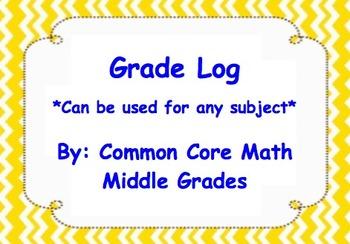 Grade Log (Customizable)