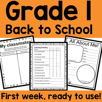 Grade One Back to School Practice Activity Book! Math and