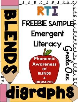 ***FREEBIE*** First Grade RTI - Phonemic awareness of blen
