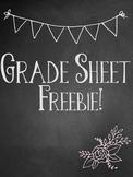 Grade Sheet Freebie!