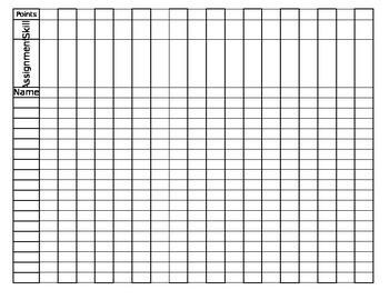 Grade Sheet with Skill (Editable)