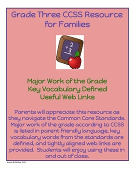 Grade Three CCSS Math Resource for Families