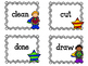 Grade Three Dolch Sight Word Flashcards. Superheros