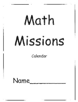 Grade Two Math Problem Solving Missions for Calendar