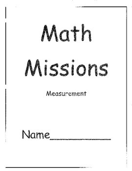Grade Two Math Problem Solving Missions for Measurement