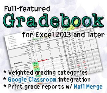 Gradebook w/ weighted categories
