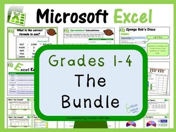 Grades 1- 4: Microsoft Excel The Bundle (ISTE 2016 Aligned)