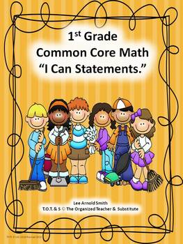 """1st-5th Grade Common Core Math """"I Can Statements"""" Bundled"""