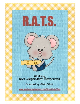 Grades 2-5 Common Core Text-Dependent Responses using R.A.T.S.