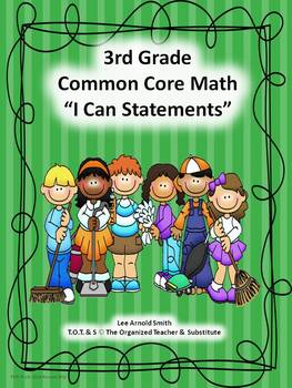 "3rd-5th Grade Common Core Math ""I Can Statements"" Bundled"