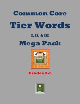 Grades 3-5 Tier Word Mega-pack
