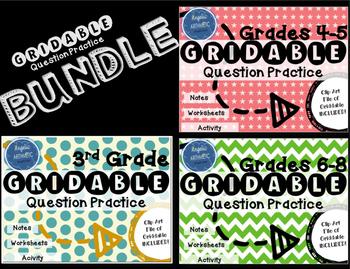 Grades 3-8 Griddable Practice BUNDLE