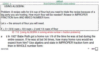 Grades 4, 5 & 6: Using Algebra to solve problems (4 worksheets)
