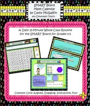 Grades 4-5 SMARTBoard Math Calendar Mega-Bundle