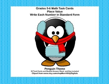 Grades 5-6 Math Task Cards - Place Value - Write Each Numb