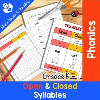 Grades K-1 Syllable Sort: Open and Closed Syllables