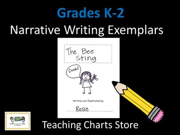Grades K-2 Narrative Writing Exemplars (Lucy Calkins Inspired)
