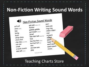 Grades K-2 Non-Fiction Writing Sound Words Chart