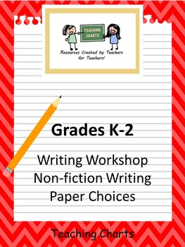 Grades K-2 Non-Fiction Writing Paper (Lucy Calkins Inspired)