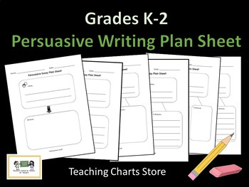 Grades K-2 Persuasive Essay Writing Plan Sheet (Lucy Calki