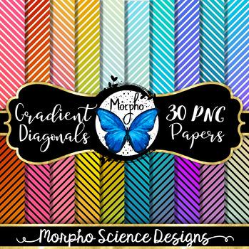Gradient Diagonals - Digital Paper - FREE!