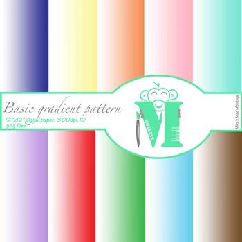 Gradient colors digital paper