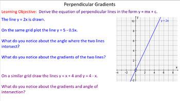 Gradient of Perpendicular Lines