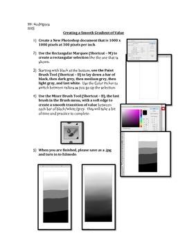Gradient of Value - Photoshop (Computer Art Assignment 8)